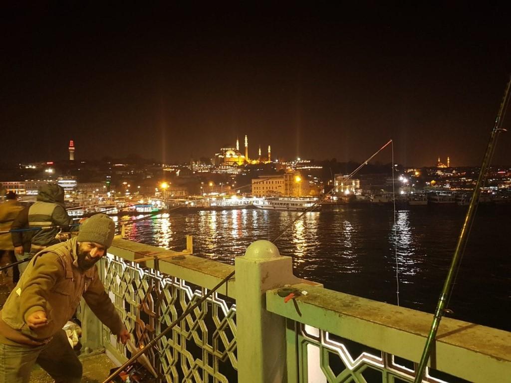 fishermen on Golden Horn, Istanbul