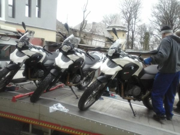 towing motorcycles romania